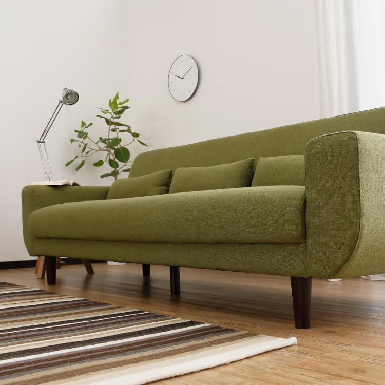 LOWYAのソファは座面クッション一体型