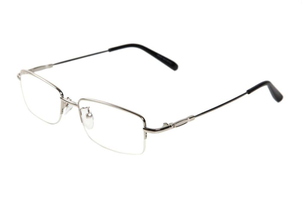 CB ブルーライトカットメガネ 男女兼用 PCメガネ メタルフレーム 5点セット(シルバー8006)