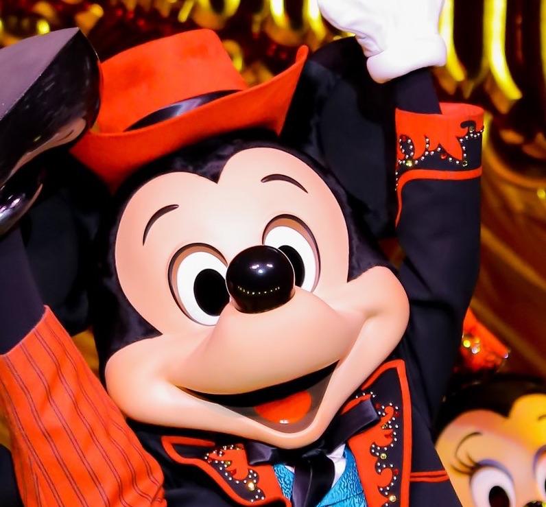 今までのミッキーマウスの顔