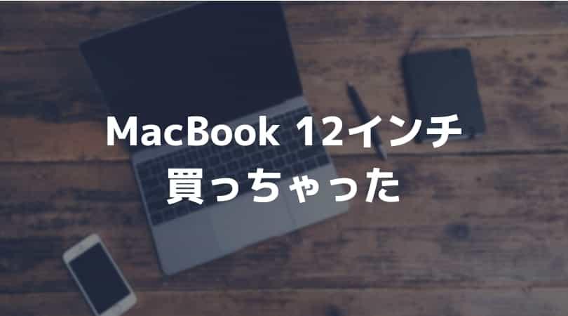 12インチMacBook購入!僕が選んだスペックとその理由をご紹介。