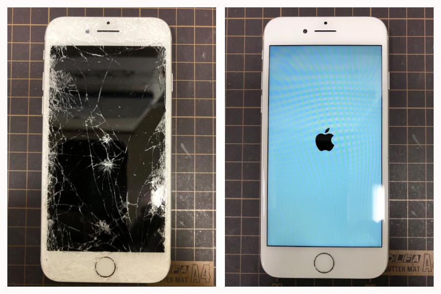 iPhone画面が割れても大丈夫!データを消さずに修理出来るって本当?